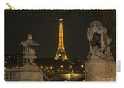 Eiffel Tower And The Seine River From Pont Alexandre At Night Carry-all Pouch