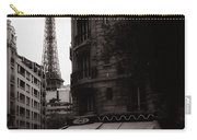 Eiffel Tower Black And White 2 Carry-all Pouch