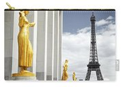 Eiffel Tower From Trocadero Carry-all Pouch by Elena Elisseeva