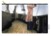 Eighteenth Century Man With Spyglass On Ship Carry-all Pouch