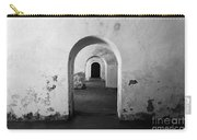 El Morro Fort Barracks Arched Doorways San Juan Puerto Rico Prints Black And White Carry-all Pouch
