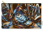 Electric Blue Carry-all Pouch by Ron Bissett