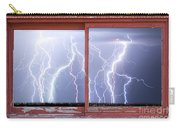 Electric Skies Red Barn Picture Window Frame Photo Art  Carry-all Pouch