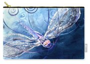 Electrified Dragonfly Carry-all Pouch