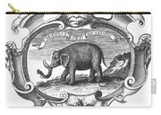 Elephant, 17th Cent Carry-all Pouch