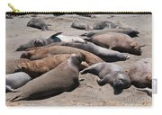 Elephant Seal Colony On Big Sur  Carry-all Pouch