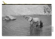 Elephants At Waterhole Carry-all Pouch