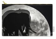 Elephants On Moonlight Walk Carry-all Pouch