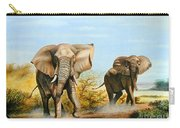 Elephants Threatening Carry-all Pouch
