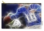 Eli Manning Ny Giants Carry-all Pouch by Paul Ward