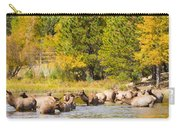 Elk Herd With Autumn Colors Carry-all Pouch