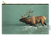 Elk In The Athabasca River Carry-all Pouch