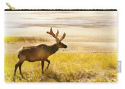 Elk Wanders On Yellow Landscape Carry-all Pouch