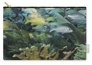 Elkhorn Coral With Schooling Grunts Carry-all Pouch