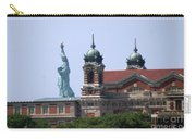 Ellis Island And Statue Of Liberty Carry-all Pouch
