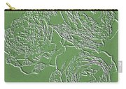 Embossed Roses Carry-all Pouch by Will Borden