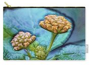 Emerald Stamped Floret Carry-all Pouch