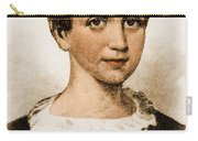 Emily Dickinson, American Poet Carry-all Pouch by Photo Researchers