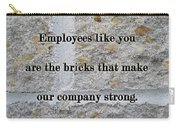 Employee Service Anniversary Thank You Card - Cement Wall Carry-all Pouch