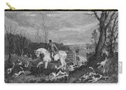 England: Fox Hunt, 1833 Carry-all Pouch by Granger