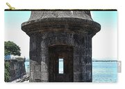 Entrance To Sentry Tower Castillo San Felipe Del Morro Fortress San Juan Puerto Rico Poster Edges Carry-all Pouch by Shawn O'Brien