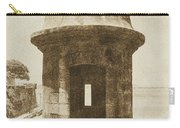 Entrance To Sentry Tower Castillo San Felipe Del Morro Fortress San Juan Puerto Rico Vintage Carry-all Pouch