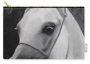 Equestrian Silver Carry-all Pouch