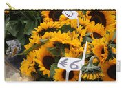 European Markets - Sunflowers And Roses Carry-all Pouch