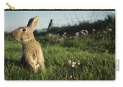 European Rabbit In A Meadow Carry-all Pouch