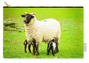 Ewe And Lambs Carry-all Pouch by Tom Gowanlock