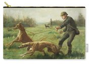 Exercising Greyhounds Carry-all Pouch