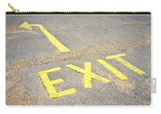 Exit Sign Carry-all Pouch
