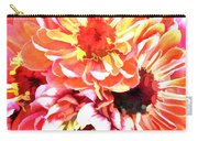 Explosion Of Bright Zinnias Carry-all Pouch