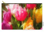 Expressionistic Spring Tulip Explosion Carry-all Pouch