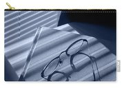 Eye Glasses Book And Venetian Blind In Blue Carry-all Pouch