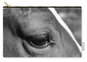 Eye Of The Horse Black And White Carry-all Pouch