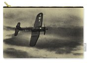 F4u Corsair In Sepia Carry-all Pouch
