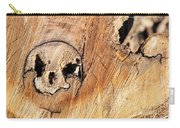 Face In The Wood Carry-all Pouch