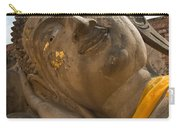 Face Of A Reclining Buddha Carry-all Pouch