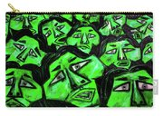 Faces - Green Carry-all Pouch