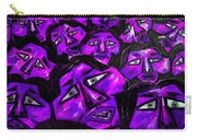 Faces - Purple Carry-all Pouch