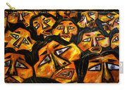 Faces Yellow Carry-all Pouch