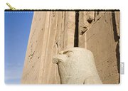 Falcon Statue At Edfu Carry-all Pouch by Darcy Michaelchuk