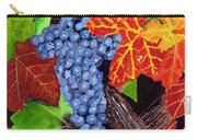 Fall Cabernet Sauvignon Grapes Carry-all Pouch by Mike Robles
