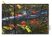Fall Forest And River Carry-all Pouch by Elena Elisseeva