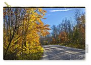 Fall Forest Road Carry-all Pouch by Elena Elisseeva