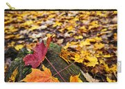 Fall Leaves In Forest Carry-all Pouch by Elena Elisseeva