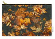 Fall Maple Leaves On Water Carry-all Pouch