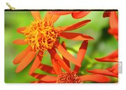 Fall Orange Flowers Carry-all Pouch