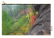 Fall Peeks From Behind The Rocks Carry-all Pouch by Heather Kirk